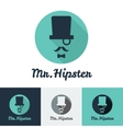 modern flat hipster face logo set for clothes shop vector image vector image