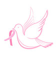 National breast cancer awareness month dove with