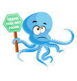 octopus with 404 error on white background vector image