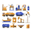 oil and gas fuel factory or plant station and vector image
