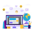 online education concept with a vector image vector image