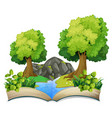 open book nature theme vector image vector image