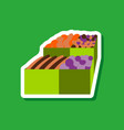 paper sticker on stylish background food boxes vector image