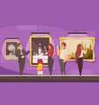 picture museum excursion composition vector image vector image