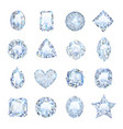 realistic gemstones icons set vector image vector image