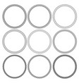 round rope frames collection on white background vector image vector image