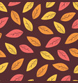 seamless abstract autumn background with leaves vector image vector image