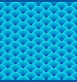 seamless blue dragon fish scales wave pattern vector image vector image