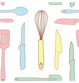 Seamless of Kitchen utensils vector image