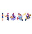secure online food delivery service vector image