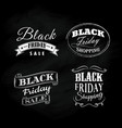 set black friday blackboard calligraphic vintage vector image