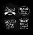 Set black friday blackboard calligraphic vintage