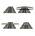 Set of different road sections with peshihodnymi vector image vector image
