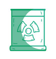 Silhouette poster with radiation symbol of danger vector image