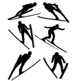 Ski Jumping Silhouette vector image vector image