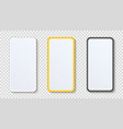 smartphone mockup with blank white display mobile vector image vector image