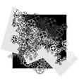 square gear wheels vector image