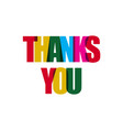 thanks you template design vector image