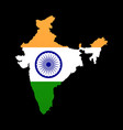 the detailed map of the india with flag vector image vector image