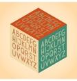 The Roman alphabet vector image
