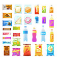 vending products beverages and snack plastic vector image