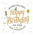 we wish you a very happy birthday stamp badge vector image