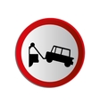 circular contour road sign with tow truck vector image
