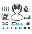 DJs set vector image