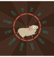 Running hamster vector image
