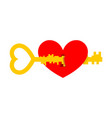 key from heart for valentines day vector image