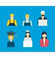 Profession occupation icons vector image