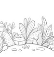 a coloring bookpage for adults and children a vector image vector image
