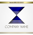 abstract company name logo vector image vector image