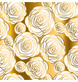 abstract gold and white rose motif vector image vector image