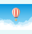 air balloon in sky vector image vector image
