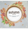 Background for big autumn sale with the image of vector image vector image