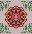 background with round ornament vector image vector image
