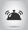 bell icon in flat style alarm on white vector image vector image