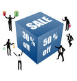 big sale box with peoples vector image vector image