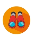 binoculars camping isolated icon vector image vector image