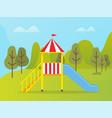 bright slide or playground kindergarten vector image vector image