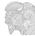 buffalo bull bison adult coloring page vector image vector image