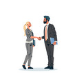 business couple handshake agreement concept vector image vector image