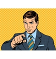 businessman pointing finger chose you vector image vector image