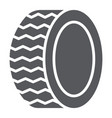 car tire glyph icon auto and part wheel sign vector image