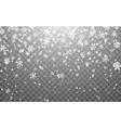 christmas snow falling snowflakes on dark vector image vector image