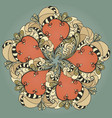 circular doodle ornament vector image