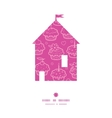 colorful cupcake party house silhouette pattern vector image