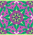 colorful mandala pattern vector image vector image
