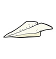 comic cartoon paper airplane vector image